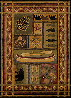 United Weavers Affinity 750 01443 Lodge Canvas Multicolor Area Rug