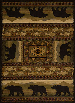 United Weavers Affinity 750 01943 Black Bears Lodge Area Rug
