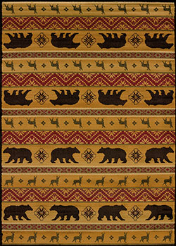 United Weavers Affinity 750 03353 Nordic Bear Spice Multicolor Area Rug