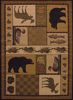 United Weavers Affinity 750 03743 Pine Montage Lodge Area Rug