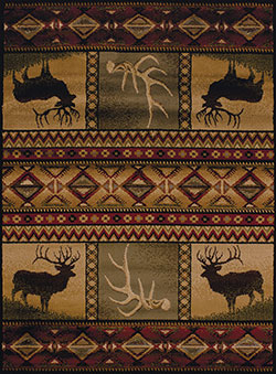United Weavers Affinity 750 03843 Hunters Dream Lodge Area Rug