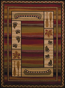 United Weavers Affinity 750 04043 Canoe Sunset Lodge Area Rug