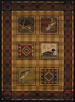 United Weavers Affinity 750 04143 Lodge Stamp Lodge Area Rug