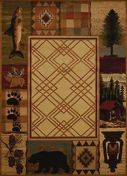 United Weavers Affinity 750 05117 Mountain Lake Natural Area Rug