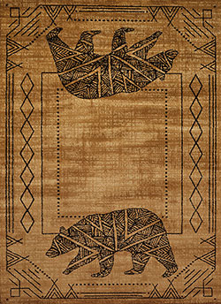 United Weavers Affinity 750 05618 Bear Cave Gold Area Rug