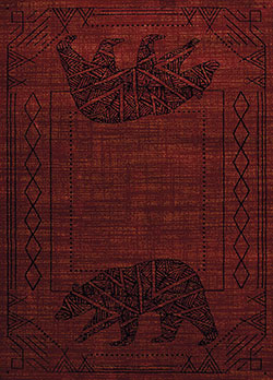United Weavers Affinity 750 05630 Bear Cave Red Area Rug