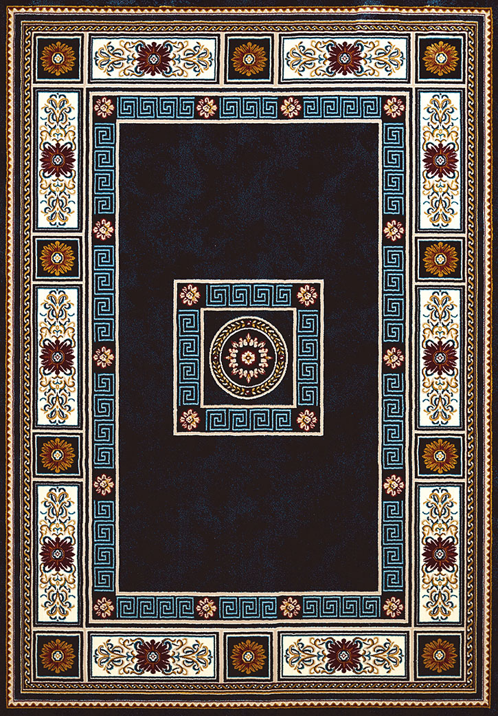 United Weavers Antiquities 1900 01064 Oriental Border Navy