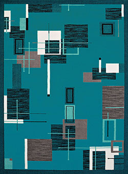 United Weavers Cafe 950 10763 Barista Aqua Area Rug