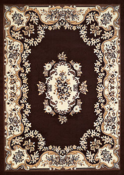 United Weavers Cafe 950 10855 Classic Aubusson Dark Brown Area Rug