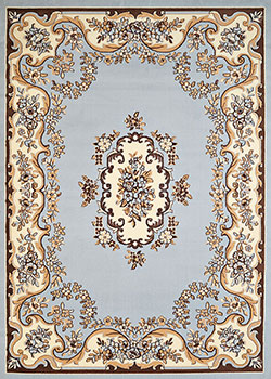 United Weavers Cafe 950 10860 Classic Aubusson Blue Area Rug