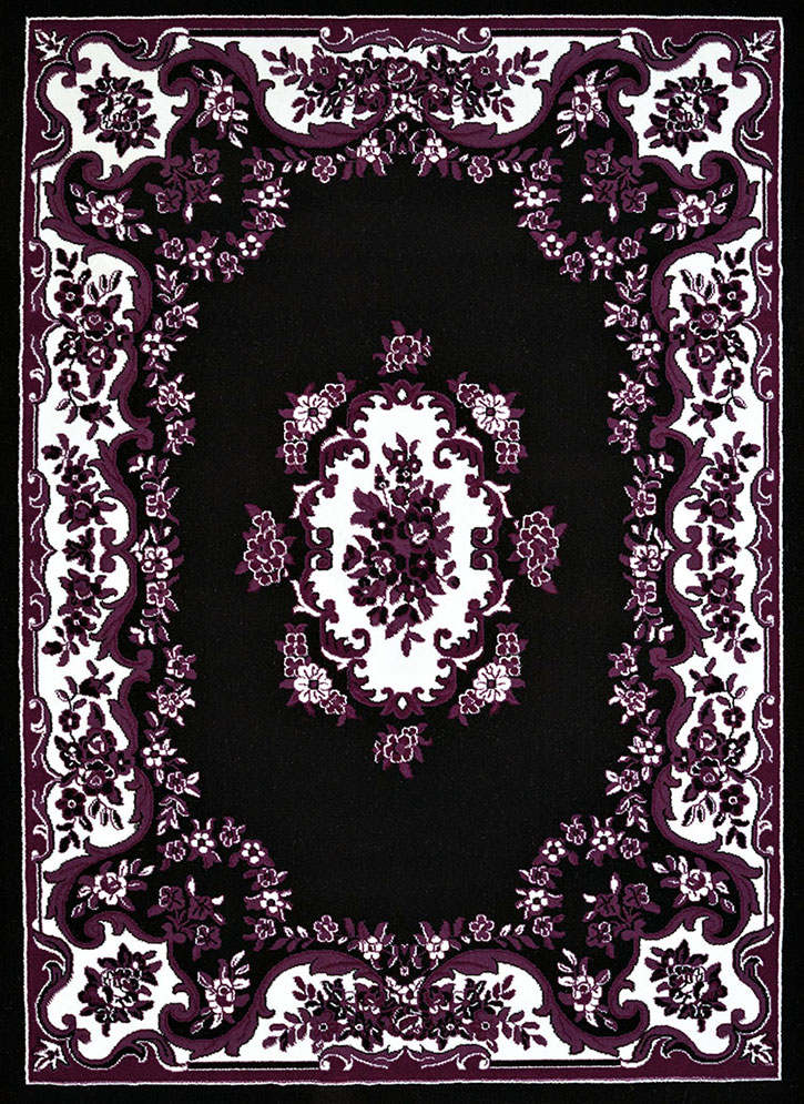 United Weavers Cafe 950 10870 Classic Aubusson Black Area Rug