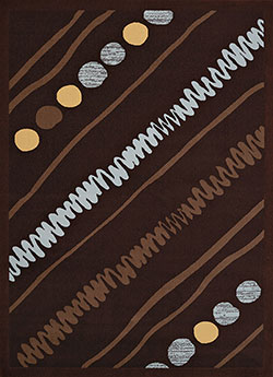 United Weavers Cafe 950 10955 Crumpets Dark Brown Area Rug