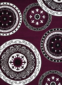 United Weavers Cafe 950 11082 Cozy Plum Area Rug