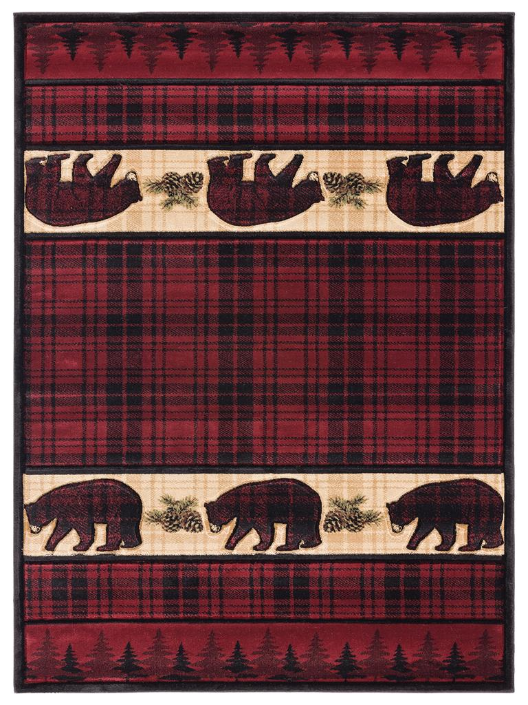 United Weavers Cottage 2055 40834 Bear Stone Burgundy Area Rug Carpetmart Com