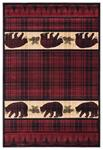 United Weavers Cottage 2055 40834 Bear Stone Burgundy Area Rug
