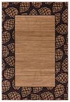 United Weavers Cottage 2055 41026 Pine Border Beige Area Rug
