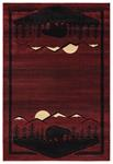 United Weavers Cottage 2055 41234 Treetops Burgundy Area Rug