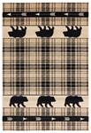 United Weavers Cottage 2055 41426 Tartan Bear Beige Area Rug