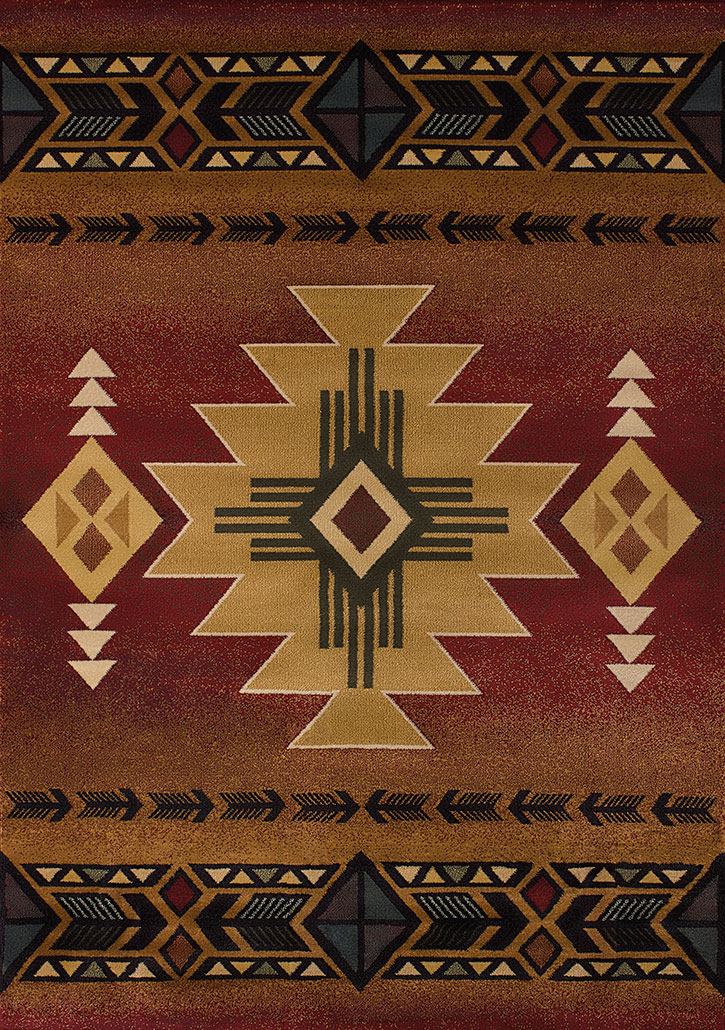 Genesis Arizona Crimson Area Rug By United Weavers