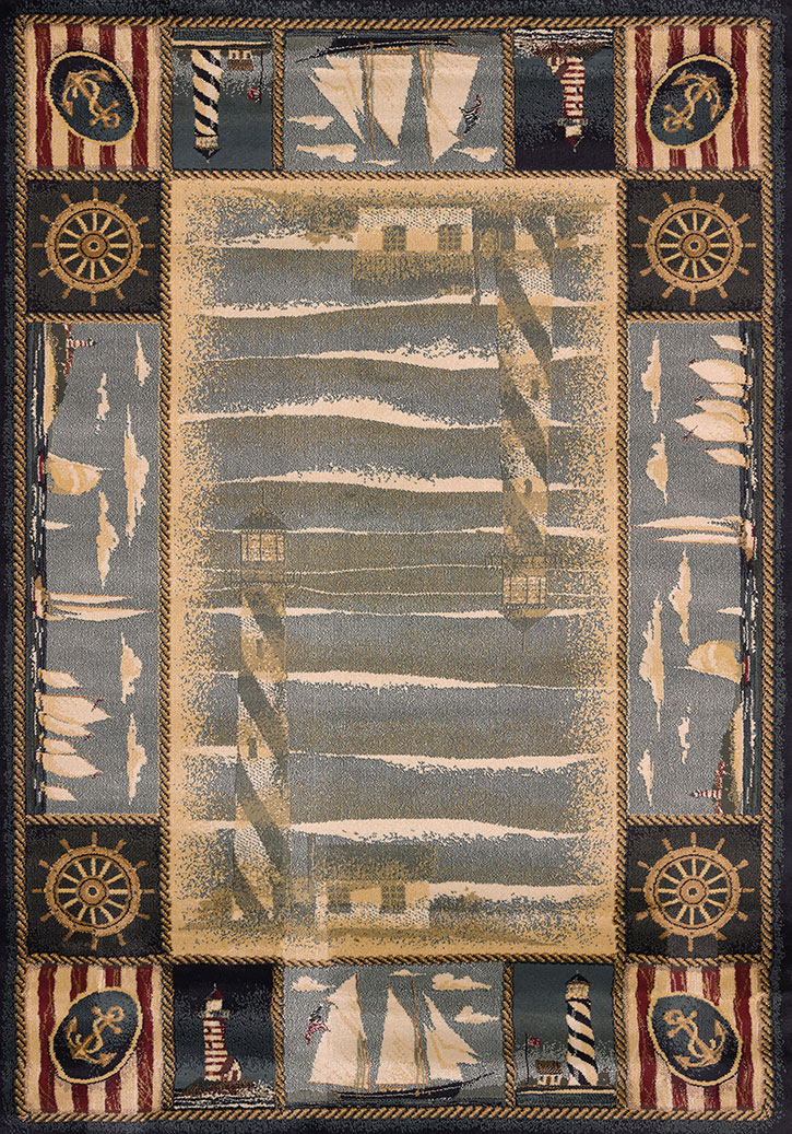 Genesis Yachtsmen Blue Area Rug By United Weavers Carpetmart