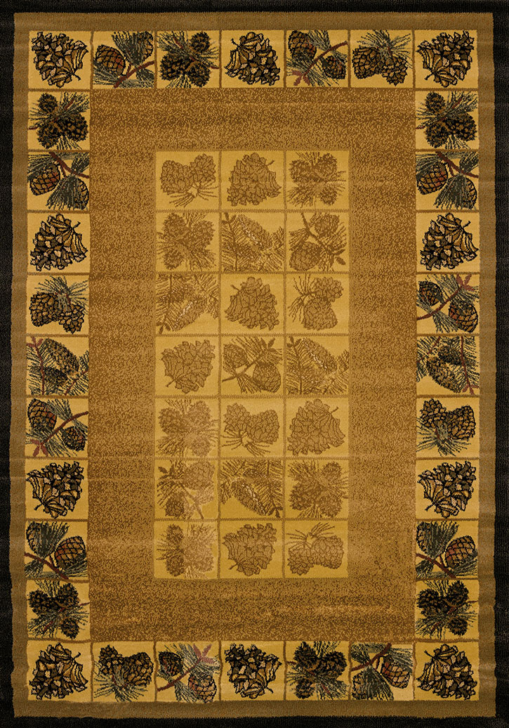 Genesis Pine Cones Natural Area Rug By United Weavers