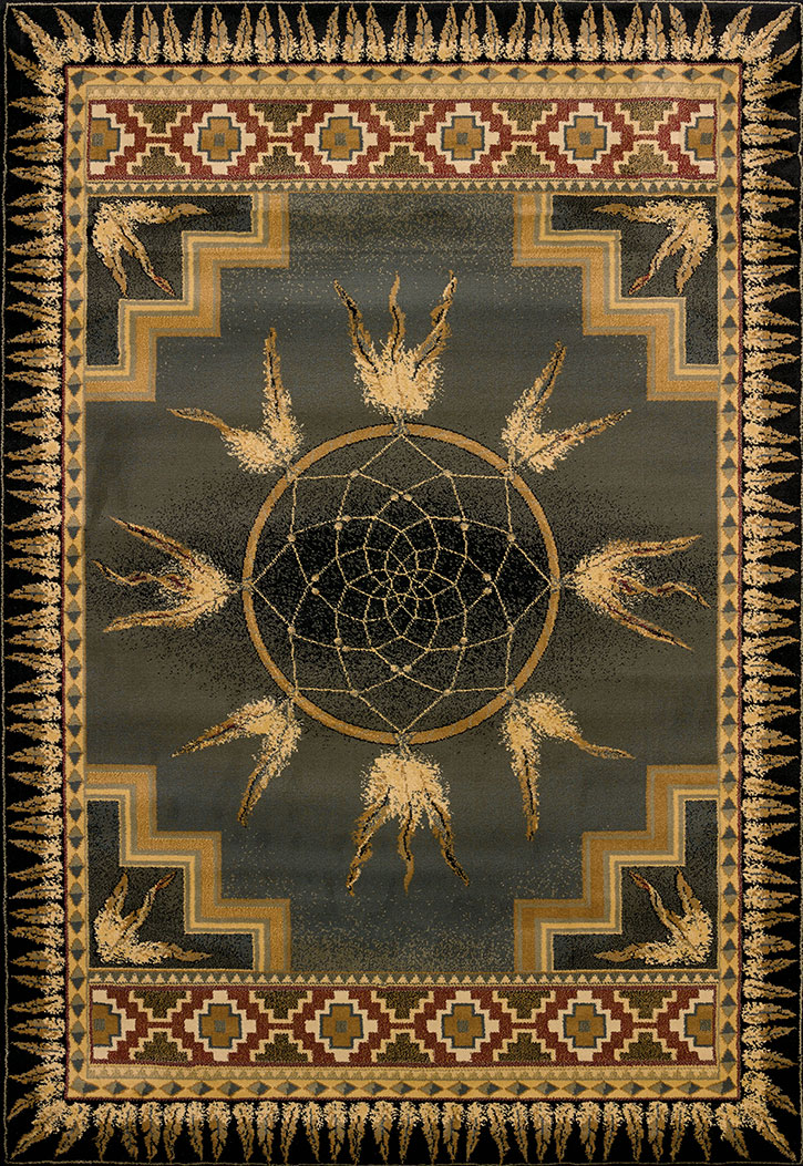 Genesis Dream Catcher Green Area Rug By United Weavers