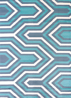 United Weavers Modern Textures 595 41660 Cupola Blue Area Rug