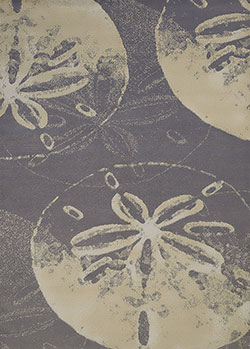 United Weavers Panama Jack Island Breeze 543 60077 Sand Dollar Cove Charcoal Area Rug