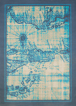 United Weavers Panama Jack Island Breeze 543 60263 Explorer Aqua Area Rug