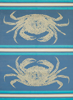 United Weavers Panama Jack Island Breeze 543 60460 Stone Crab Blue Area Rug