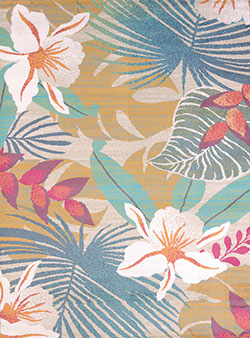 United Weavers Regional Concepts 541 50589 Flower Jungle Tropical Area Rug