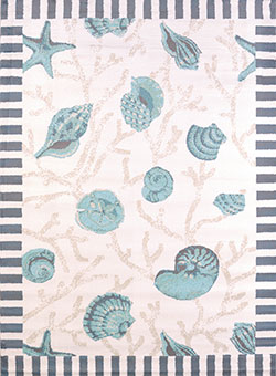 United Weavers Regional Concepts 541 50660 Shells Blue Area Rug