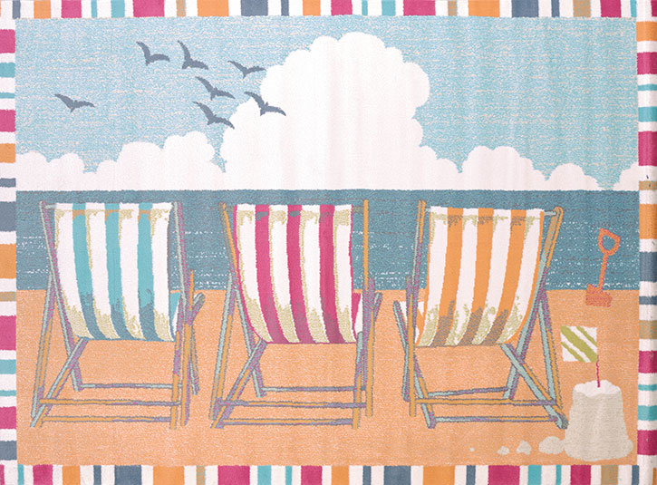 United Weavers Regional Concepts 541 50889 Seaside Chairs Tropical Area Rug