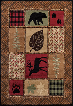 United Weavers Woodside 712 30375 Hunters Patchwork Multi Area Rug