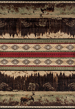 United Weavers Woodside 712 30545 Woodland Meadows Green Area Rug