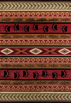 United Weavers Woodside 712 30750 Huntsman Trail Brown Area Rug