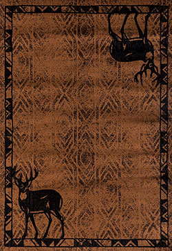 United Weavers Woodside 712 30950 Deer Gaze Brown Area Rug