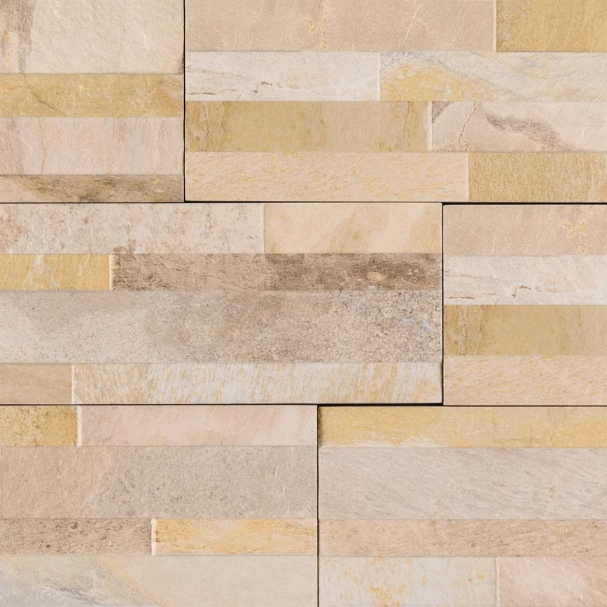 "Dekora Canyon Cream 6"" X 24"" Porcelain Ledger Panel"