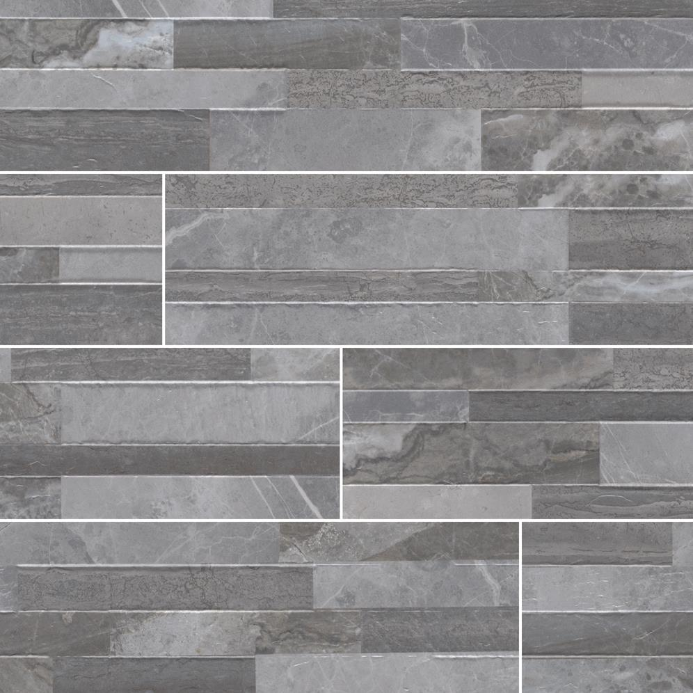 "Dekora Palisade Grey 6"" X 24"" Porcelain Ledger Panel"