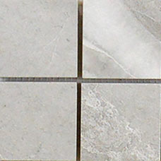 "Alabama Perla White 13"" X 13"" Porcelain 2"" Mosaic Tile"