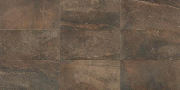 "Slate Attache Multi Brown 12"" X 24"" Porcelain Tile"