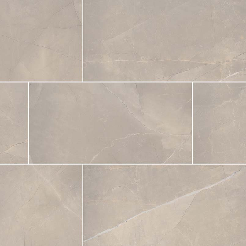 "Sande Cream Beige 12"" X 24"" Porcelain Polished Tile"