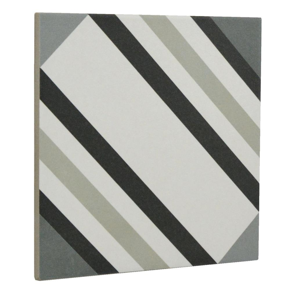"Swing Night & Day 04 Geometric 8"" X 8"" Porcelain Tile"