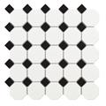 Tech Octogon White Matte Porcelain Mosaic Tile