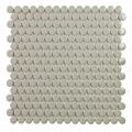 Tech Penny Grey Gloss Porcelain Mosaic Tile