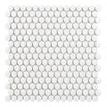 Tech Penny White Gloss Porcelain Mosaic Tile