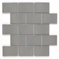 Tech York Smoke Gloss Porcelain Mosaic Tile
