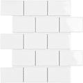 Tech York White Gloss Porcelain Mosaic Tile