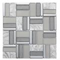 Time Grey Stone-Glass Mosaic Tile