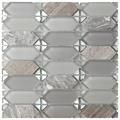 Vintage Grey Stone-Glass Mosaic Tile